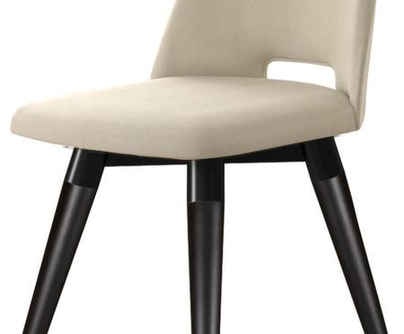 Cadeira Selina Giratória - Off White e Preta   WestwingNow