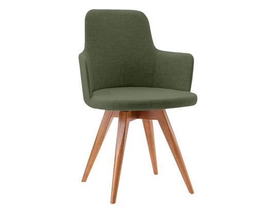 Cadeira Giratória de Madeira Tina - Verde, Verde | WestwingNow