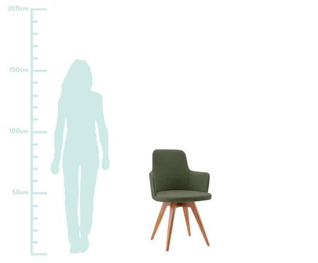 Cadeira Giratória de Madeira Tina - Verde | WestwingNow