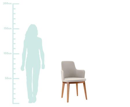 Cadeira de Madeira com Braço Mary - Creme | WestwingNow