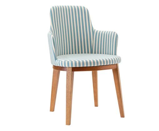 Cadeira com Braços Mary - Branca e Azul, Branco, Azul, Colorido | WestwingNow
