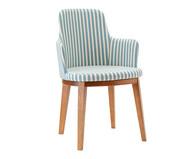 Cadeira com Braço Dora - Branca e Azul | WestwingNow