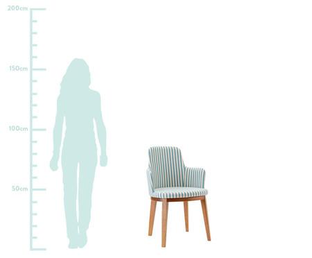 Cadeira com Braços Mary - Branca e Azul | WestwingNow