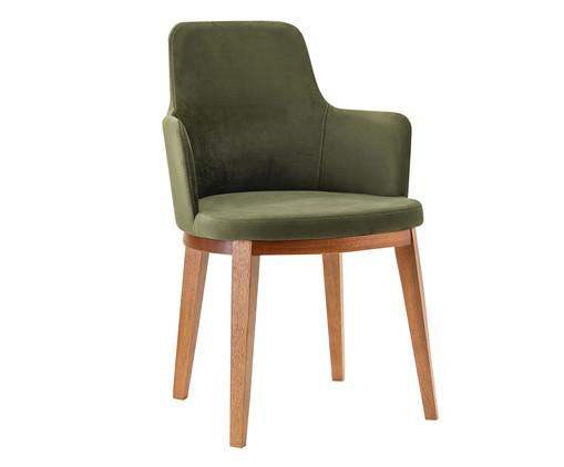Cadeira de Madeira com Braço Dora - Verde Musgo, Verde | WestwingNow