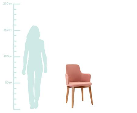 Cadeira de Madeira com Braço Dora - Rosa | WestwingNow