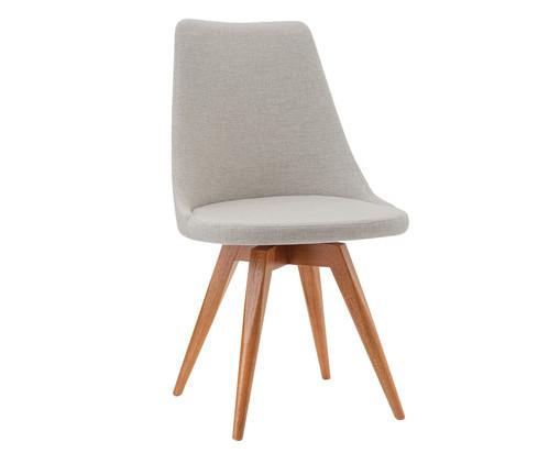 Cadeira em Madeira e Tecido Ella - Bege, Bege   WestwingNow