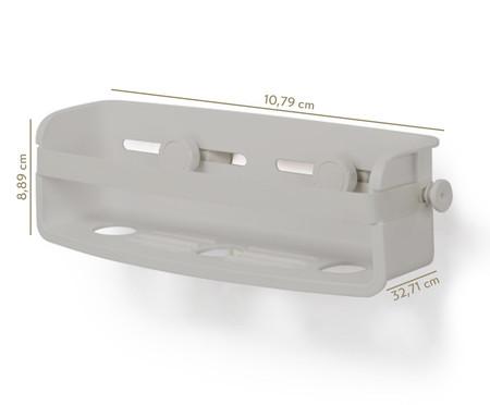 Porta Acessorios de Banho Felipe - Cinza | WestwingNow