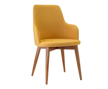 Cadeira de Madeira com Braço Dora - Amarelo Queimado | WestwingNow