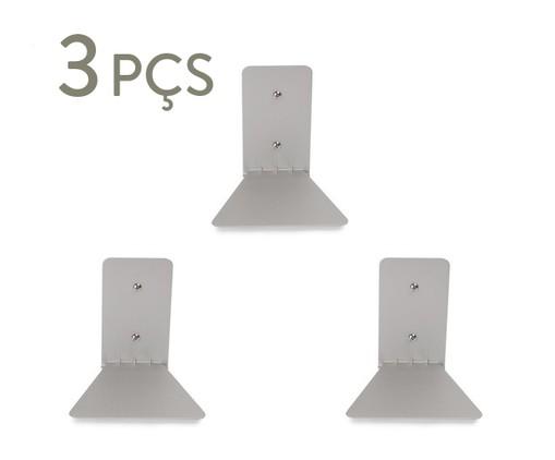 Jogo de Três Prateleiras Invisível - Prata, Prata | WestwingNow