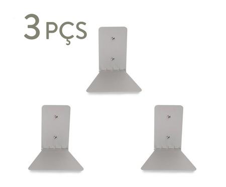 Jogo de Três Prateleiras Invisível - Prata | WestwingNow