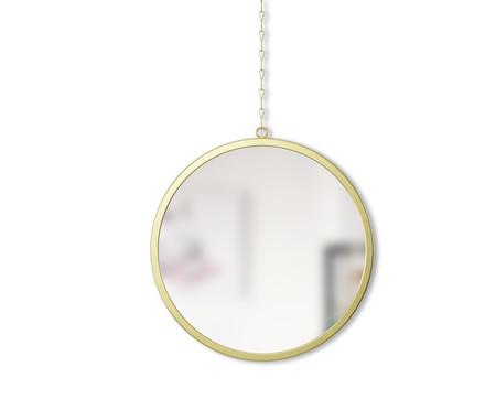 Jogo de Espelho de Parede Round  - Dourado   WestwingNow