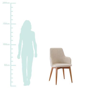 Cadeira de Madeira com Braço Dora - Creme | WestwingNow