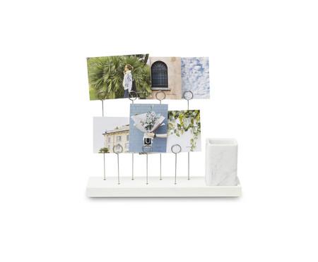 Porta-Retrato em Resina Marilse - Branco | WestwingNow