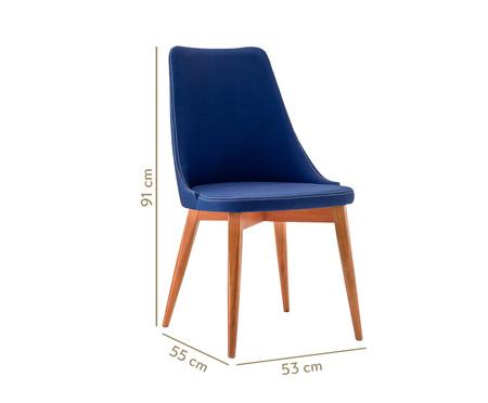Cadeira em Madeira Dora - Azul Marinho | WestwingNow