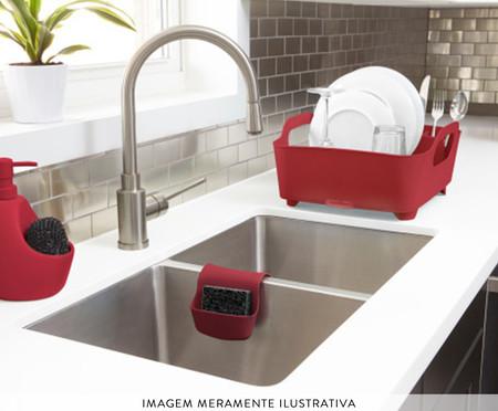 Dispenser para Detergente com esponja Joyce - Vermelho | WestwingNow