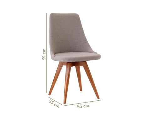 Cadeira em Madeira e Tecido Ella - Cinza | WestwingNow