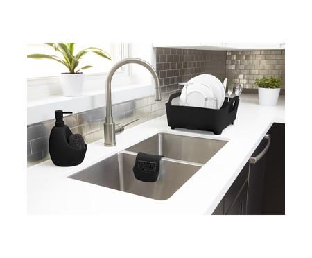 Dispenser para Detergente com esponja Joyce - Preto | WestwingNow