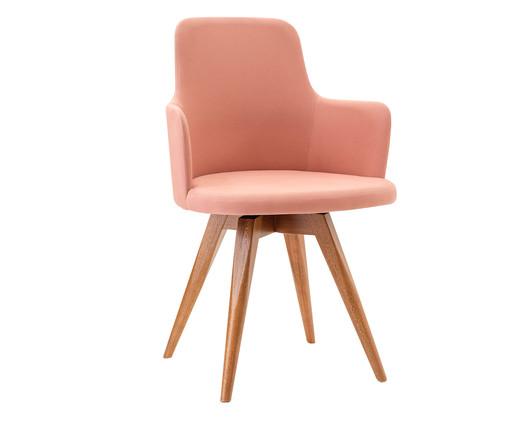 Cadeira Giratória de Madeira Tina - Rosa, Rosa | WestwingNow