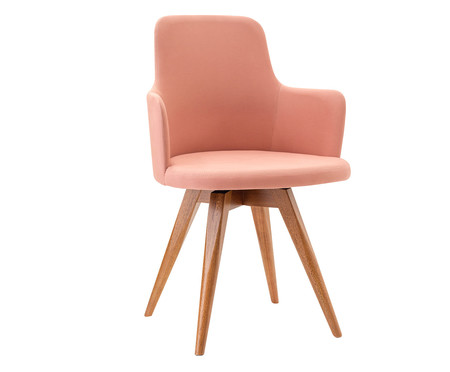 Cadeira Giratória Tina - Rosa | WestwingNow