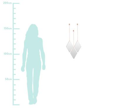 Jogo de Espelho de Parede Diamond - Cobre | WestwingNow