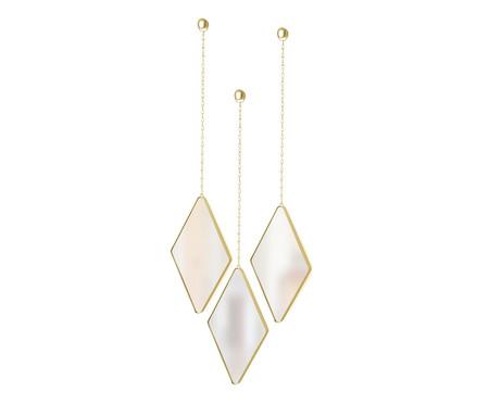 Jogo de Espelho de Parede Diamond - Dourado | WestwingNow