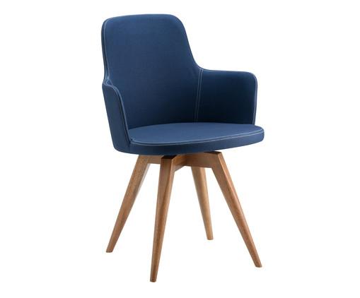 Cadeira Giratória de Madeira Tina - Azul Marinho, Azul | WestwingNow