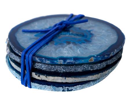 Jogo Porta-Copos de Ágata Jasmim - Azul | WestwingNow