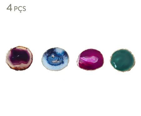 Jogo Porta-Copos de Ágata Naomi - Colorido | WestwingNow