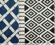 Tapete Passadeira sem Franja Bamboo, Azul e Branco | WestwingNow