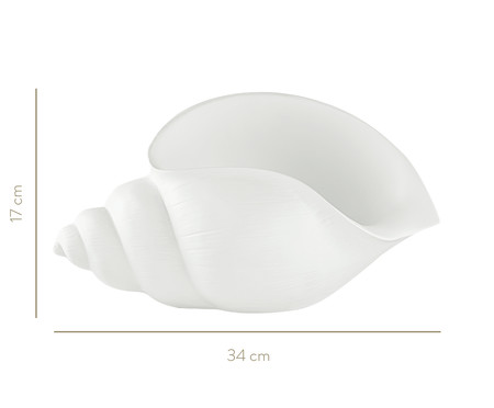 Concha Decorativa Bernadine - Branco | WestwingNow