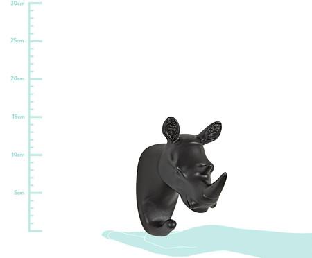 Gancho de Parede em Resina Hipopotamo - Preto | WestwingNow
