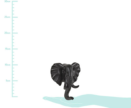 Gancho de Parede em Resina Elefante - Preto | WestwingNow