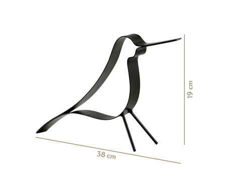 Adorno em Metal Pássaro - Preto | WestwingNow