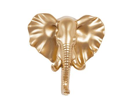 Gancho de Parede em Resina Elefante -Dourado | WestwingNow