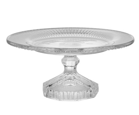 Prato para Bolo com Pé em Cristal Versalhes - Transparente | WestwingNow
