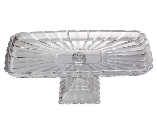Prato para Bolo com Pé em Cristal Tours - Transparente, Transparente   WestwingNow