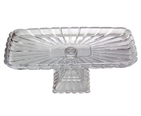 Prato para Bolo com Pé em Cristal Tours - Transparente | WestwingNow