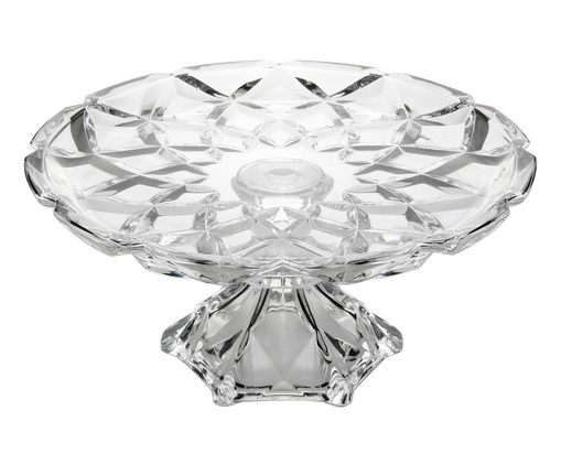 Prato para Bolo com Pé em Cristal Seattle - Transparente, Transparente | WestwingNow