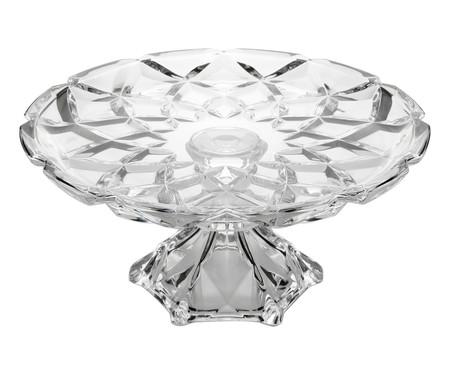 Prato para Bolo com Pé em Cristal Seattle - Transparente | WestwingNow