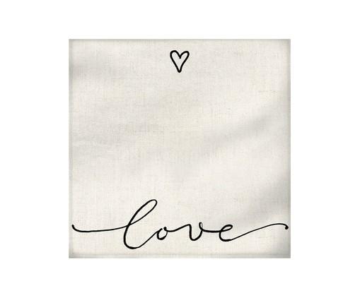 Guardanapo Love - Bege, Branco | WestwingNow