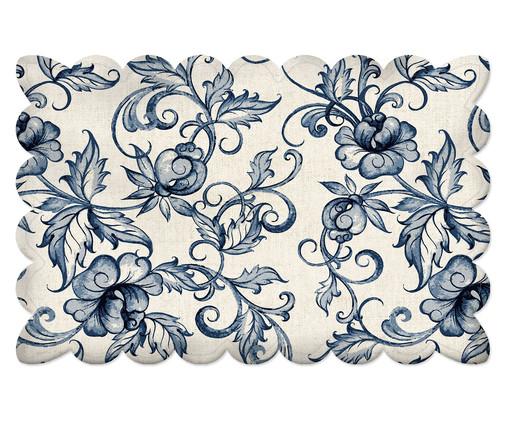 Lugar Americano Flowers Traditional - Azul, Azul | WestwingNow