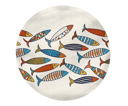 Lugar Americano Colorful Fish - Estampado | WestwingNow