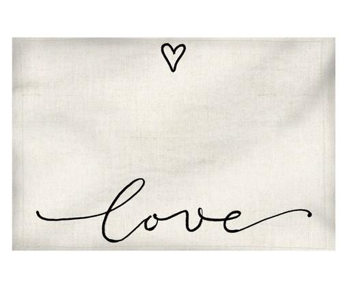 Lugar Americano Love - Bege, Branco | WestwingNow