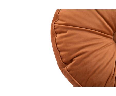 Almofada Botão Redonda em Veludo Terra - 45x10cm | WestwingNow