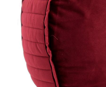 Almofada Redonda em Veludo Lateral Ripado Vinho - 45x15cm | WestwingNow