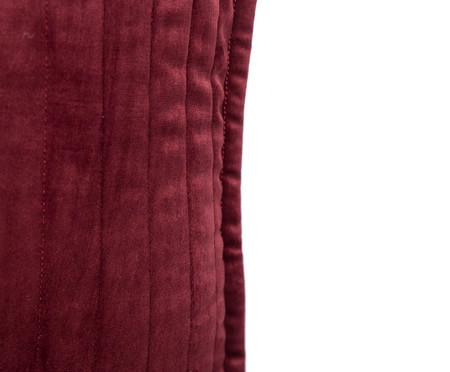 Almofada em Veludo  Ripado Vinho - 50x50cm | WestwingNow