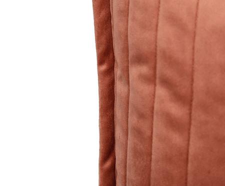 Almofada em Veludo  Ripado Terracota - 50x50cm | WestwingNow