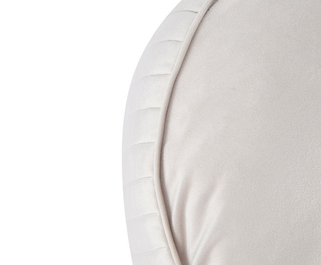 Almofada Redonda em Veludo Lateral Ripado Gelo - 45x15cm | WestwingNow