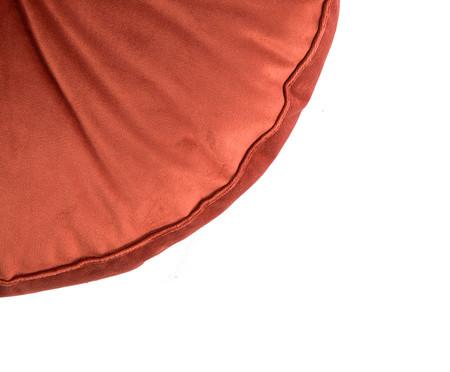 Almofada Botão Redonda em Veludo Terracota - 45x10cm | WestwingNow