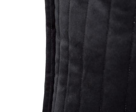 Almofada em Veludo  Ripado Preto - 30x50cm   WestwingNow